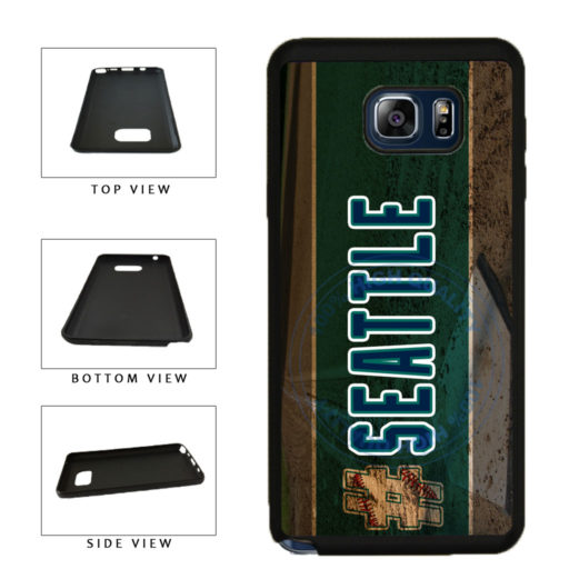 Hashtag Seattle #Seattle Baseball Team  TPU RUBBER SILICONE Phone Case Back Cover For Samsung Galaxy Note V 5 N920 includes BleuReign(TM) Cloth and Warranty Label