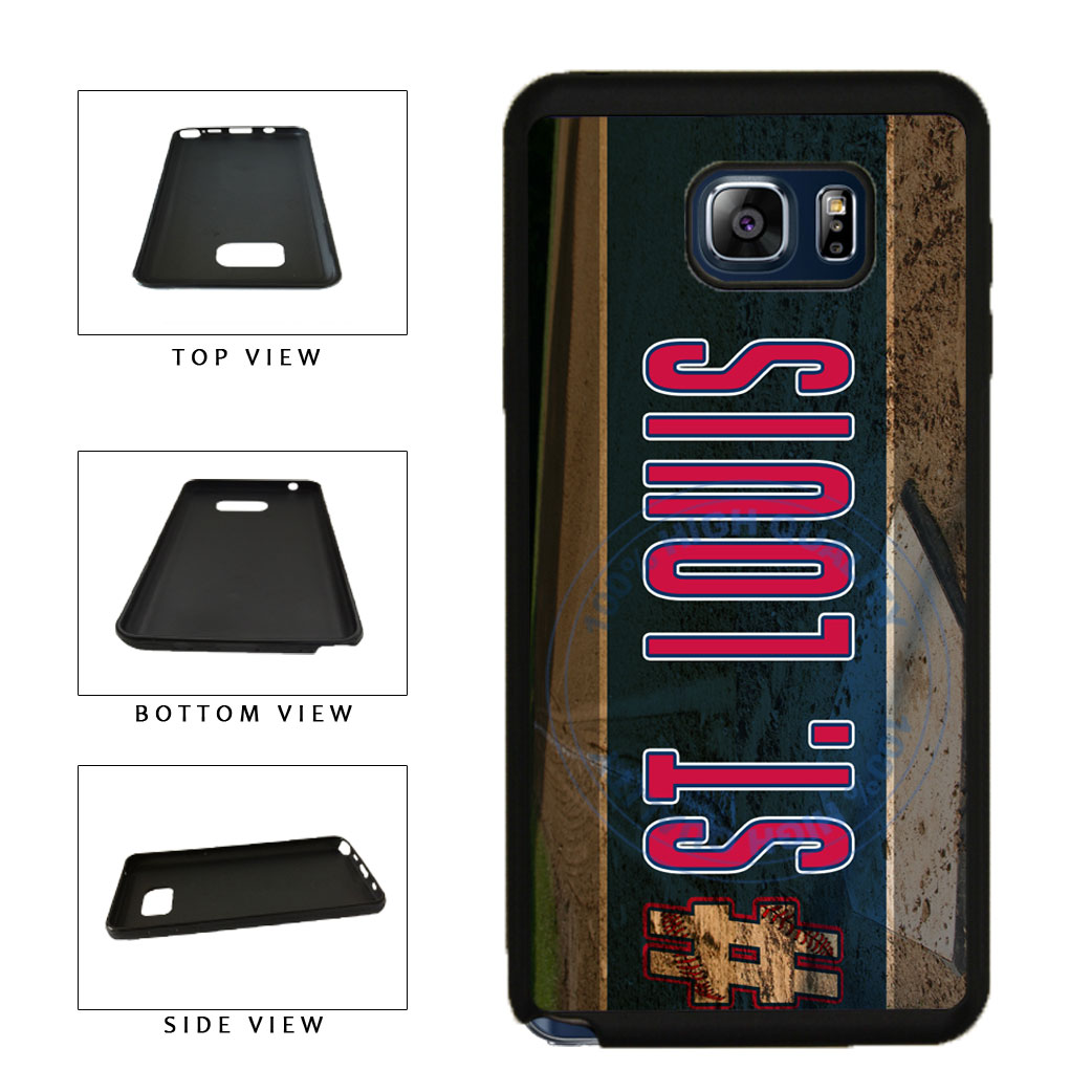 Hashtag St Louis #StLouis Baseball Team TPU RUBBER SILICONE Phone Case Back Cover For Samsung Galaxy Note V 5 N920 includes BleuReign(TM) Cloth and Warranty Label