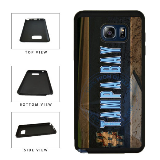 Hashtag Tampa Bay #TampaBay Baseball Team  TPU RUBBER SILICONE Phone Case Back Cover For Samsung Galaxy Note V 5 N920 includes BleuReign(TM) Cloth and Warranty Label