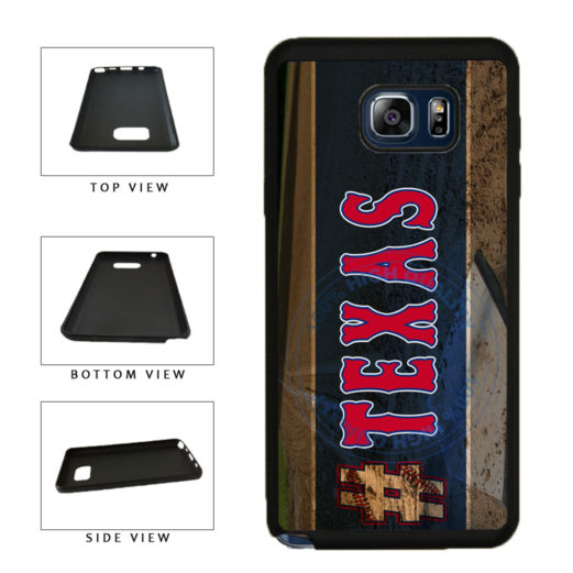 Hashtag Texas #Texas Baseball Team  TPU RUBBER SILICONE Phone Case Back Cover For Samsung Galaxy Note V 5 N920 includes BleuReign(TM) Cloth and Warranty Label