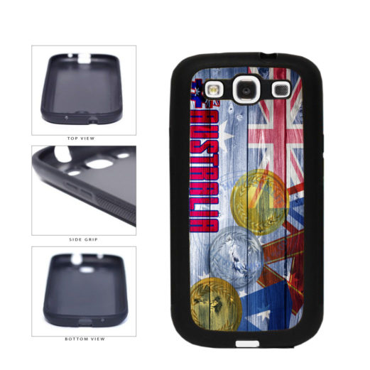 Sport Games Hashtag Team Australia #Australia TPU Rubber SILICONE Phone Case Back Cover For Samsung Galaxy S3 I9300 includes BleuReign(TM) Cloth and Warranty Label