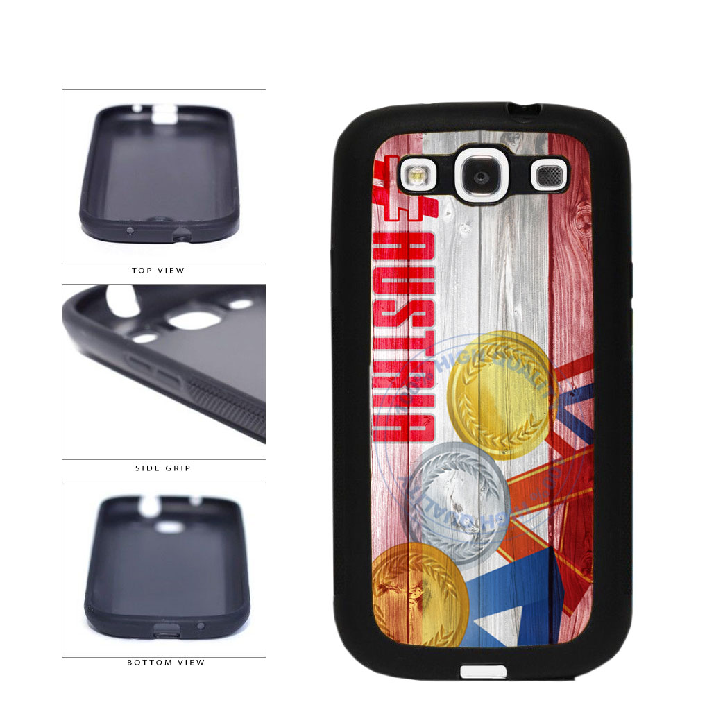 Sport Games Hashtag Team Austria #Austria TPU Rubber SILICONE Phone Case Back Cover For Samsung Galaxy S3 I9300 includes BleuReign(TM) Cloth and Warranty Label