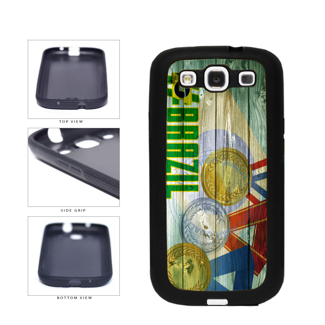 Sport Games Hashtag Team Brazil #Brazil TPU Rubber SILICONE Phone Case Back Cover For Samsung Galaxy S3 I9300 includes BleuReign(TM) Cloth and Warranty Label