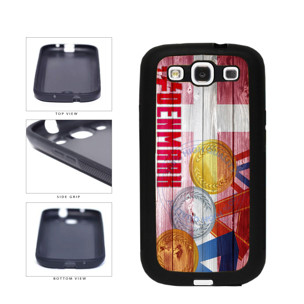 Sport Games Hashtag Team Denmark #Denmark TPU Rubber SILICONE Phone Case Back Cover For Samsung Galaxy S3 I9300 includes BleuReign(TM) Cloth and Warranty Label