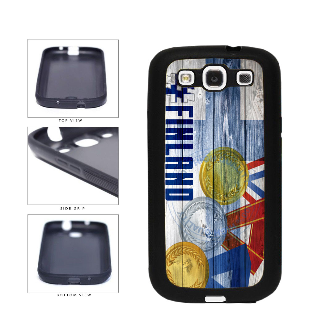 Sport Games Hashtag Team Finland #Finland TPU Rubber SILICONE Phone Case Back Cover For Samsung Galaxy S3 I9300 includes BleuReign(TM) Cloth and Warranty Label