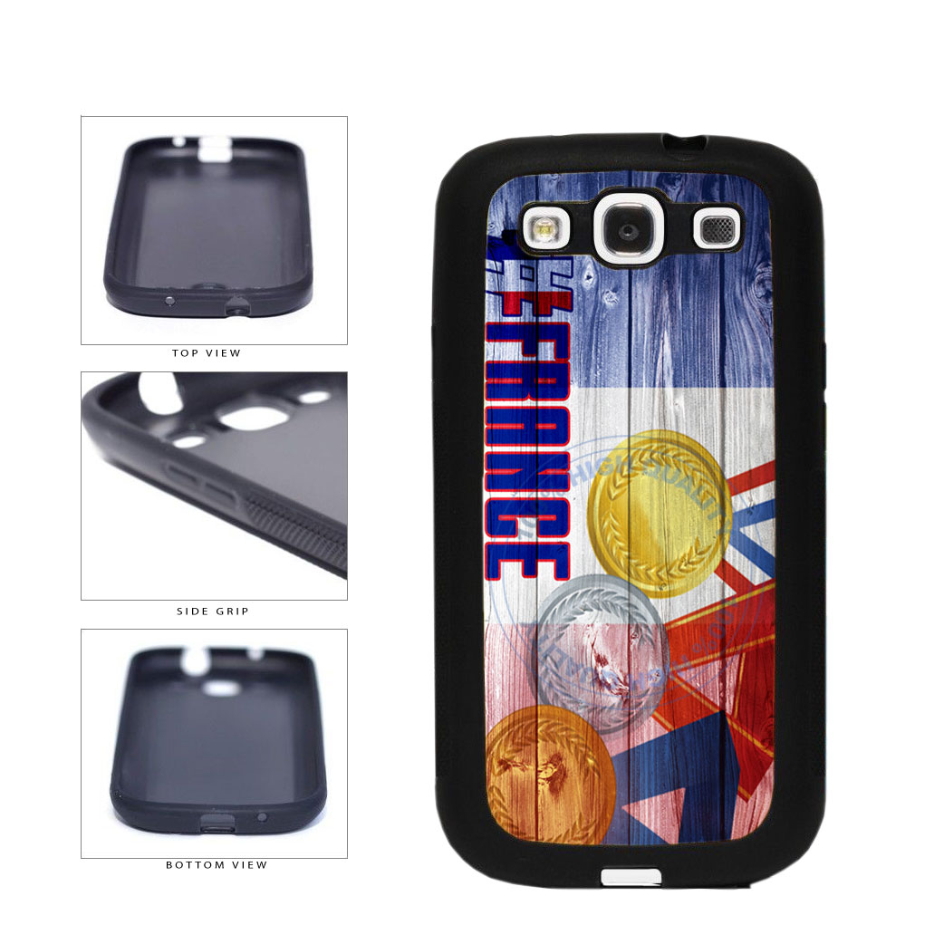Sport Games Hashtag Team France #France TPU Rubber SILICONE Phone Case Back Cover For Samsung Galaxy S3 I9300 includes BleuReign(TM) Cloth and Warranty Label