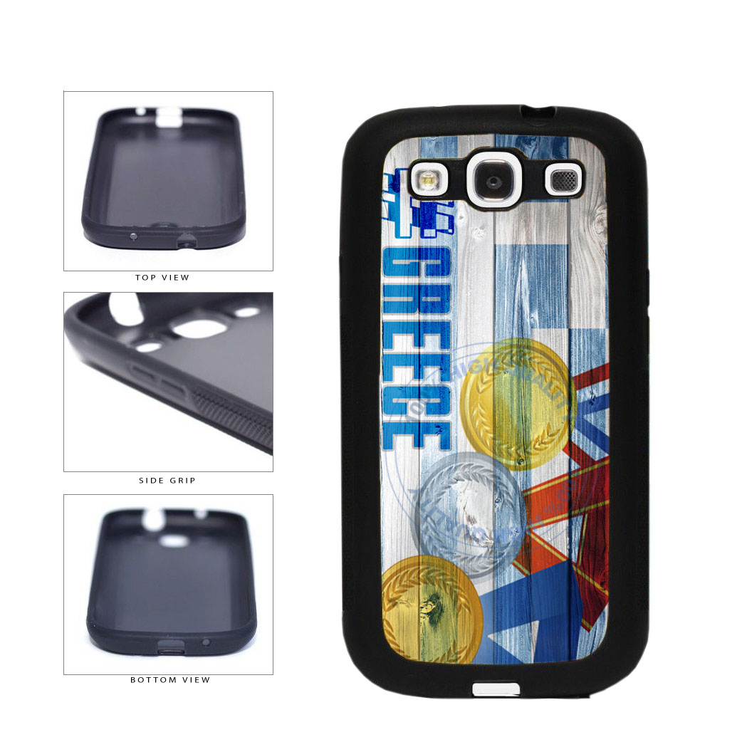 Sport Games Hashtag Team Greece #Greece TPU Rubber SILICONE Phone Case Back Cover For Samsung Galaxy S3 I9300 includes BleuReign(TM) Cloth and Warranty Label