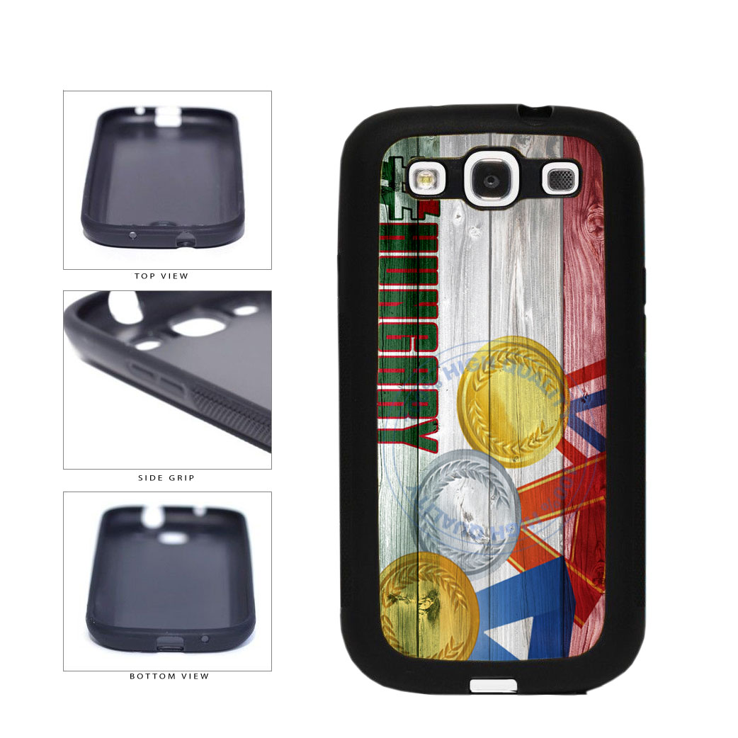 Sport Games Hashtag Team Hungary #Hungary TPU Rubber SILICONE Phone Case Back Cover For Samsung Galaxy S3 I9300 includes BleuReign(TM) Cloth and Warranty Label