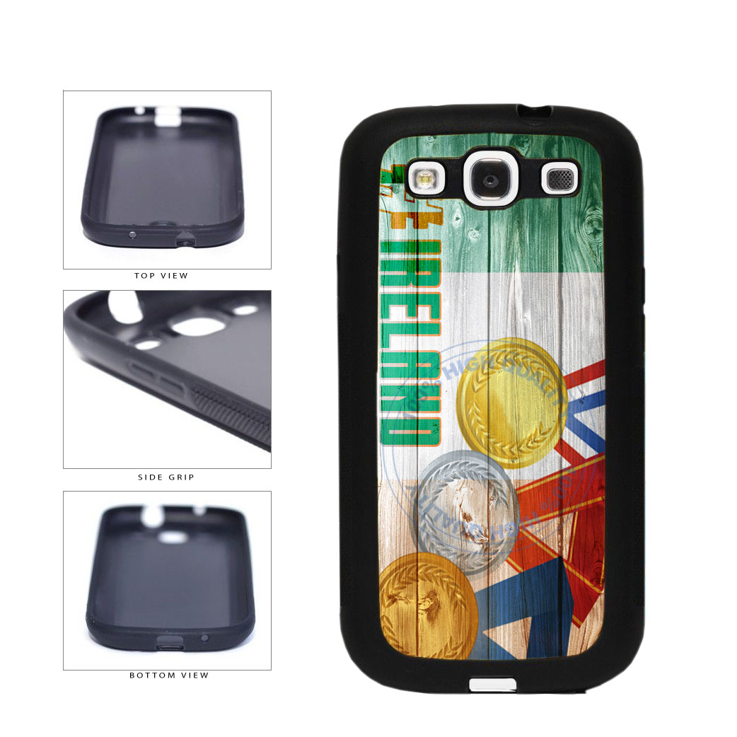 Sport Games Hashtag Team Ireland #Ireland TPU Rubber SILICONE Phone Case Back Cover For Samsung Galaxy S3 I9300 includes BleuReign(TM) Cloth and Warranty Label
