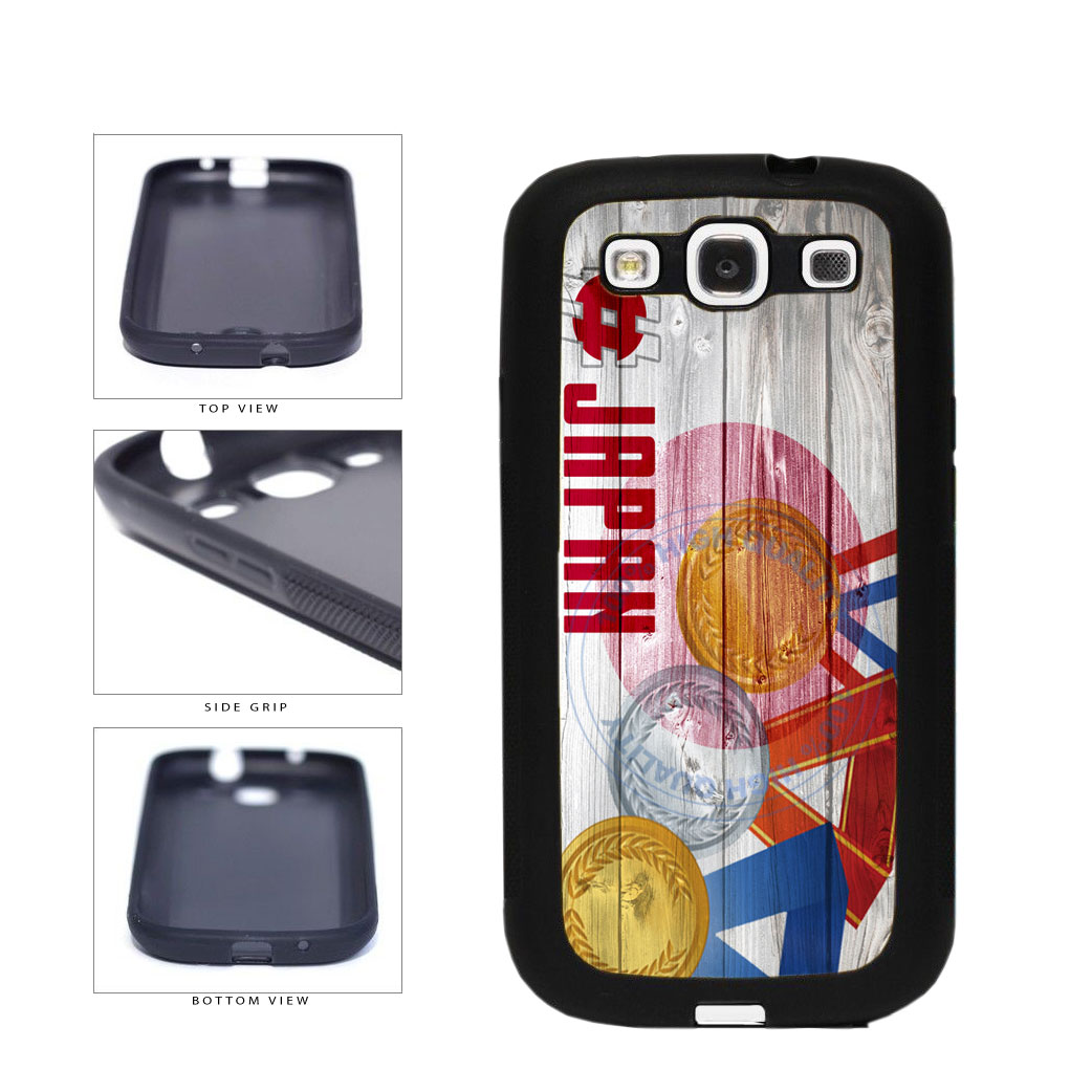 Sport Games Hashtag Team Japan #Japan TPU Rubber SILICONE Phone Case Back Cover For Samsung Galaxy S3 I9300 includes BleuReign(TM) Cloth and Warranty Label