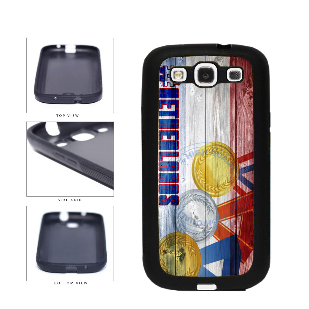 Sport Games Hashtag Team Netherlands #Netherlands TPU Rubber SILICONE Phone Case Back Cover For Samsung Galaxy S3 I9300 includes BleuReign(TM) Cloth and Warranty Label