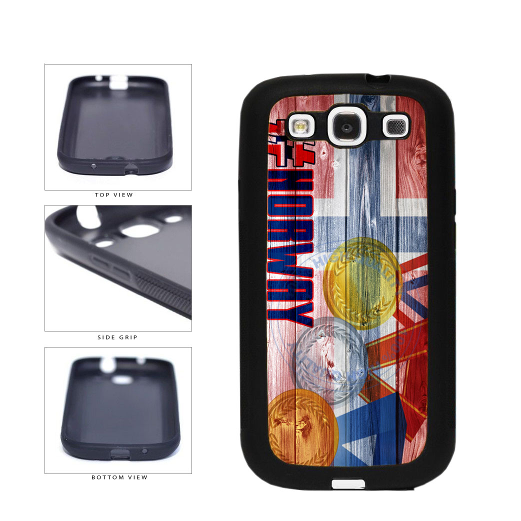 Sport Games Hashtag Team Norway #Norway TPU Rubber SILICONE Phone Case Back Cover For Samsung Galaxy S3 I9300 includes BleuReign(TM) Cloth and Warranty Label