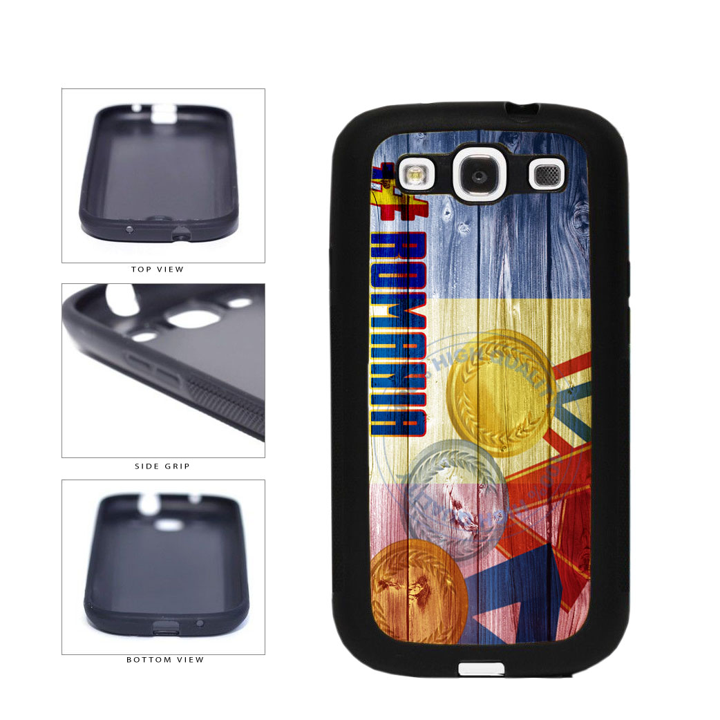 Sport Games Hashtag Team Romania #Romania TPU Rubber SILICONE Phone Case Back Cover For Samsung Galaxy S3 I9300 includes BleuReign(TM) Cloth and Warranty Label