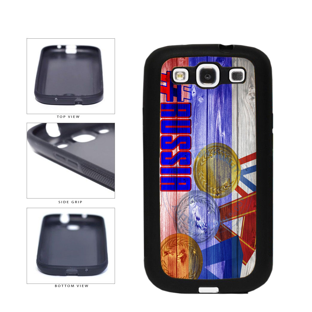 Sport Games Hashtag Team Russia #Russia TPU Rubber SILICONE Phone Case Back Cover For Samsung Galaxy S3 I9300 includes BleuReign(TM) Cloth and Warranty Label