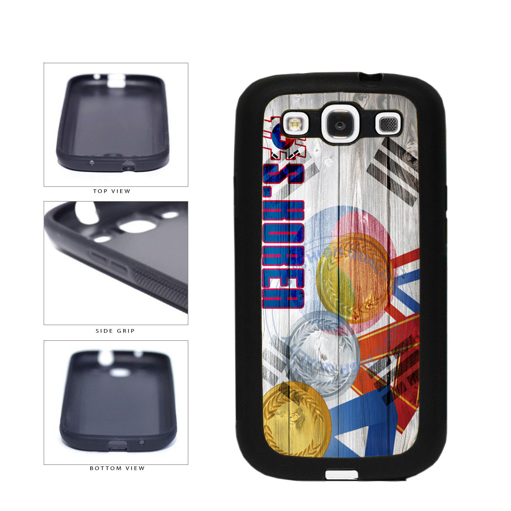 Sport Games Hashtag Team South Korea #SouthKorea TPU Rubber SILICONE Phone Case Back Cover For Samsung Galaxy S3 I9300 includes BleuReign(TM) Cloth and Warranty Label