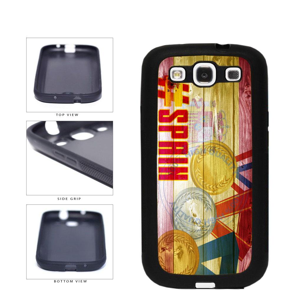 Sport Games Hashtag Team Spain #Spain TPU Rubber SILICONE Phone Case Back Cover For Samsung Galaxy S3 I9300 includes BleuReign(TM) Cloth and Warranty Label