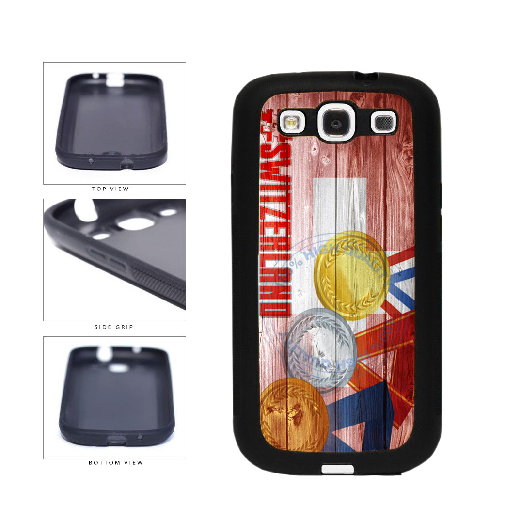 Sport Games Hashtag Team Switzerland #Switzerland TPU Rubber SILICONE Phone Case Back Cover For Samsung Galaxy S3 I9300 includes BleuReign(TM) Cloth and Warranty Label