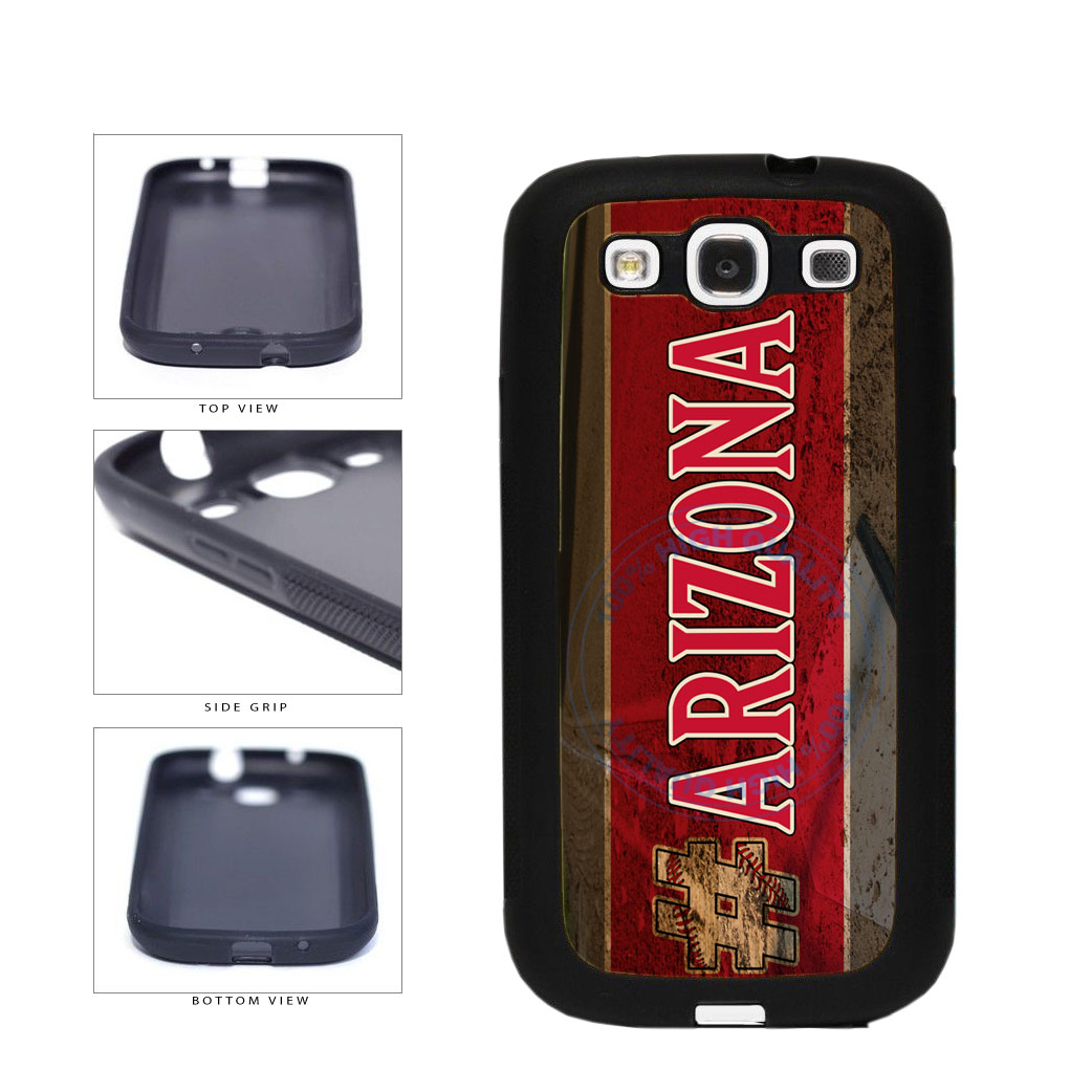 Hashtag Arizona #Arizona Baseball Team  TPU Rubber SILICONE Phone Case Back Cover For Samsung Galaxy S3 I9300 includes BleuReign(TM) Cloth and Warranty Label
