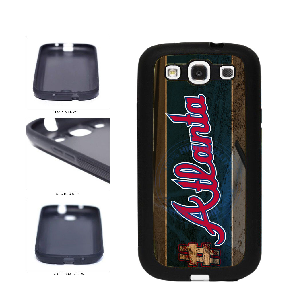 Hashtag Atlanta #Atlanta Baseball Team  TPU Rubber SILICONE Phone Case Back Cover For Samsung Galaxy S3 I9300 includes BleuReign(TM) Cloth and Warranty Label