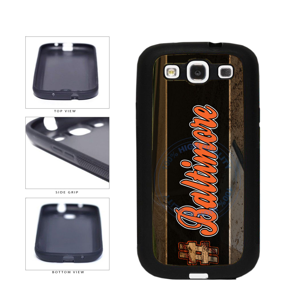 Hashtag Baltimore #Baltimore Baseball Team  TPU Rubber SILICONE Phone Case Back Cover For Samsung Galaxy S3 I9300 includes BleuReign(TM) Cloth and Warranty Label