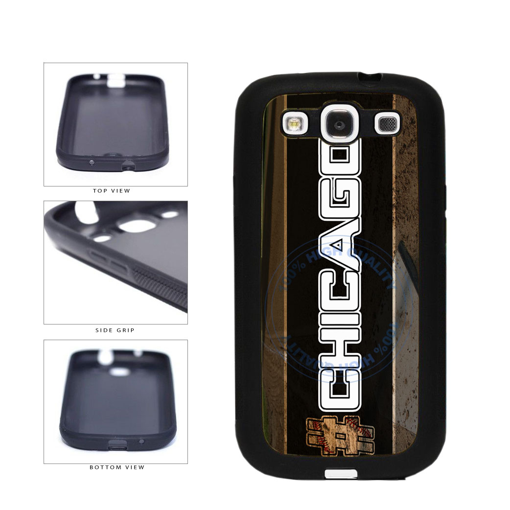 Hashtag Chicago #Chicago White Baseball Team  TPU Rubber SILICONE Phone Case Back Cover For Samsung Galaxy S3 I9300 includes BleuReign(TM) Cloth and Warranty Label