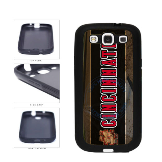 Hashtag Cincinnati #Cincinnati Baseball Team  TPU Rubber SILICONE Phone Case Back Cover For Samsung Galaxy S3 I9300 includes BleuReign(TM) Cloth and Warranty Label