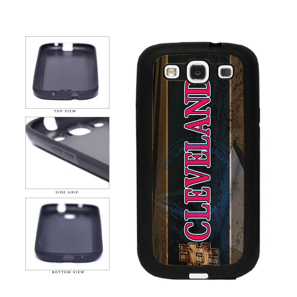 Hashtag Cleveland #Cleveland Baseball Team  TPU Rubber SILICONE Phone Case Back Cover For Samsung Galaxy S3 I9300 includes BleuReign(TM) Cloth and Warranty Label