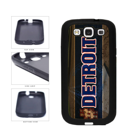 Hashtag Detroit #Detroit Baseball Team  TPU Rubber SILICONE Phone Case Back Cover For Samsung Galaxy S3 I9300 includes BleuReign(TM) Cloth and Warranty Label