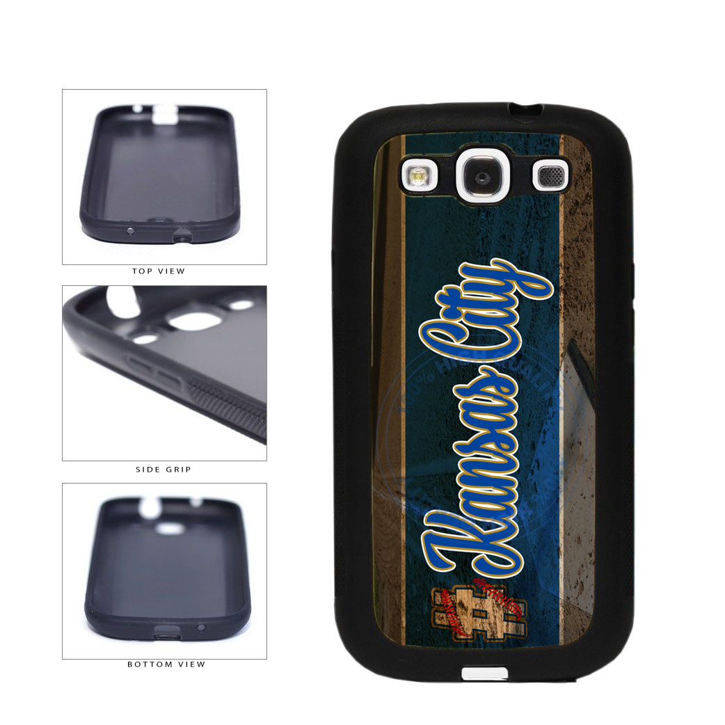 Hashtag Kansas City #KansasCity Baseball Team  TPU Rubber SILICONE Phone Case Back Cover For Samsung Galaxy S3 I9300 includes BleuReign(TM) Cloth and Warranty Label