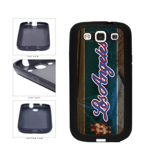 Hashtag Los Angeles #LosAngeles Blue Baseball Team  TPU Rubber SILICONE Phone Case Back Cover For Samsung Galaxy S3 I9300 includes BleuReign(TM) Cloth and Warranty Label