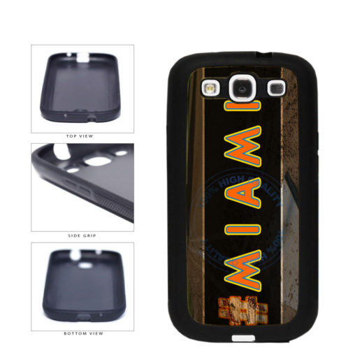 Hashtag Miami #Miami Baseball Team  TPU Rubber SILICONE Phone Case Back Cover For Samsung Galaxy S3 I9300 includes BleuReign(TM) Cloth and Warranty Label