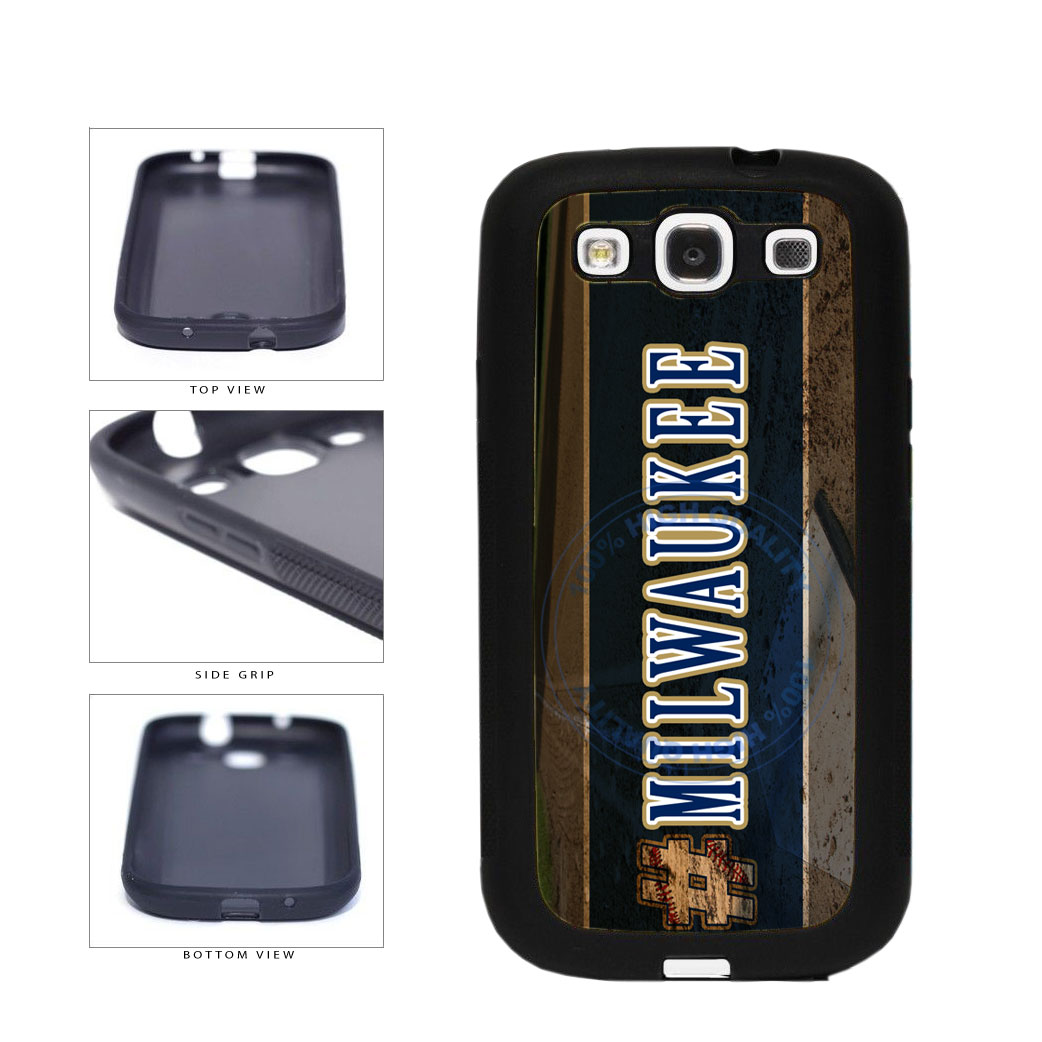 Hashtag Milwaukee #Milwaukee Baseball Team  TPU Rubber SILICONE Phone Case Back Cover For Samsung Galaxy S3 I9300 includes BleuReign(TM) Cloth and Warranty Label