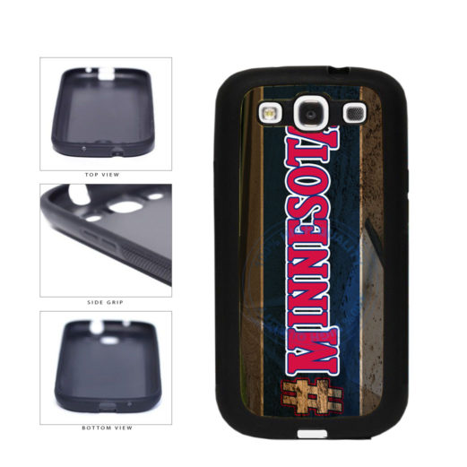 Hashtag Minnesota #Minnesota Baseball Team  TPU Rubber SILICONE Phone Case Back Cover For Samsung Galaxy S3 I9300 includes BleuReign(TM) Cloth and Warranty Label