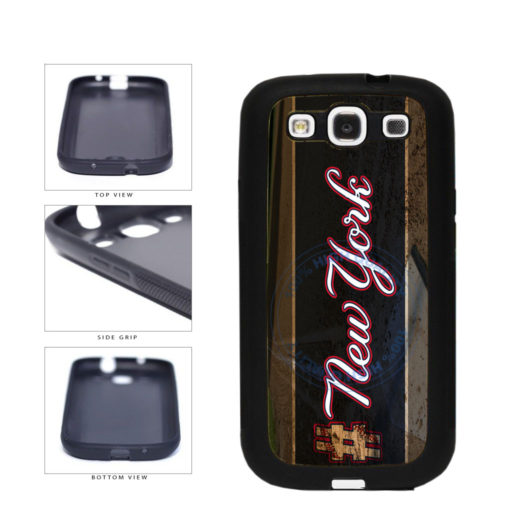 Hashtag New York #NewYork Blue Baseball Team  TPU Rubber SILICONE Phone Case Back Cover For Samsung Galaxy S3 I9300 includes BleuReign(TM) Cloth and Warranty Label