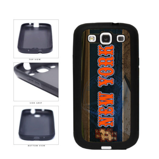 Hashtag New York #NewYork Orange Baseball Team  TPU Rubber SILICONE Phone Case Back Cover For Samsung Galaxy S3 I9300 includes BleuReign(TM) Cloth and Warranty Label