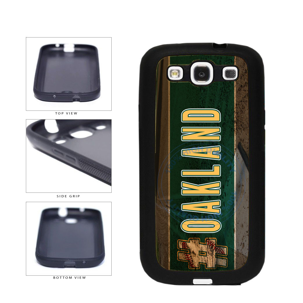 Hashtag Oakland #Oakland Baseball Team  TPU Rubber SILICONE Phone Case Back Cover For Samsung Galaxy S3 I9300 includes BleuReign(TM) Cloth and Warranty Label