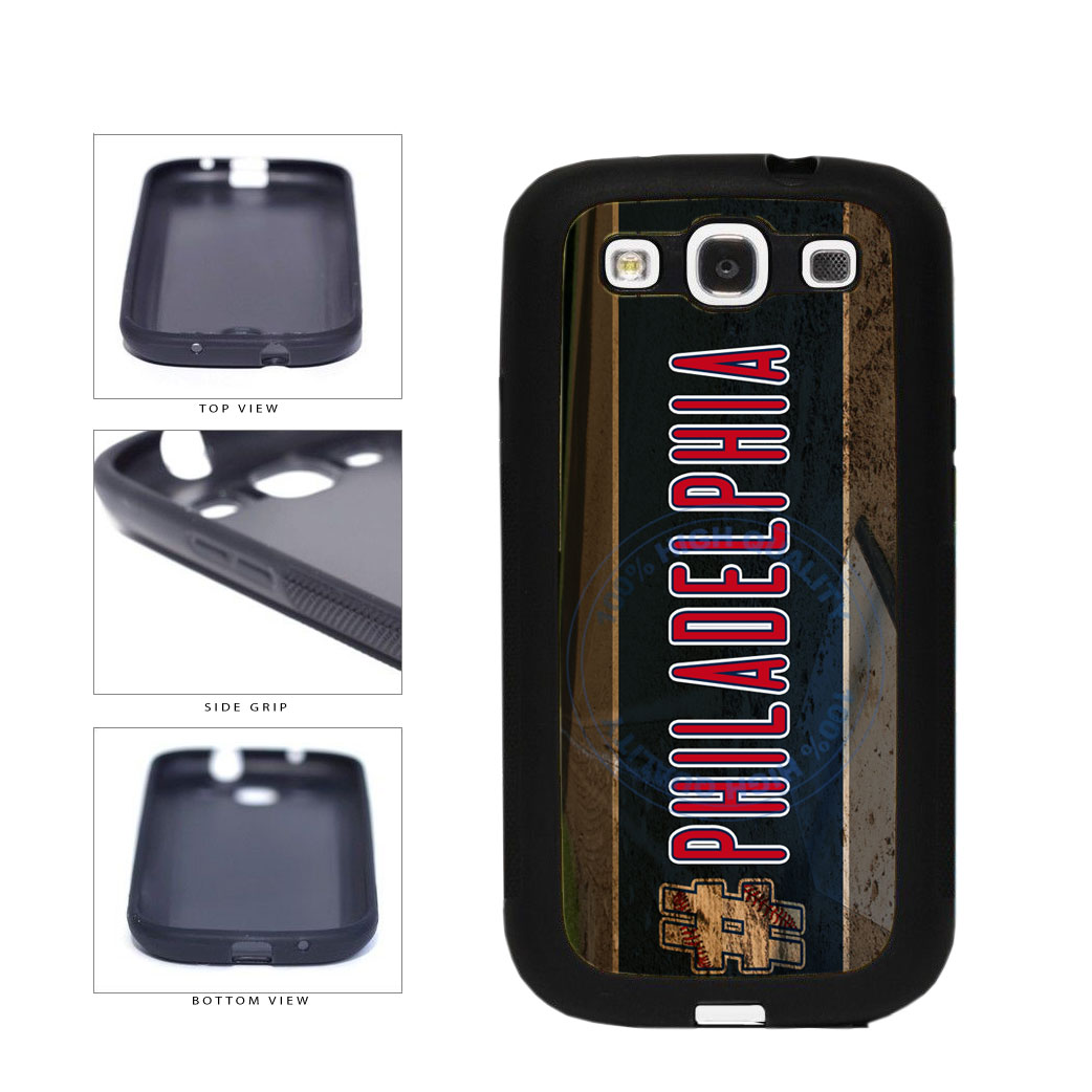 Hashtag Philadelphia #Philadelphia Baseball Team  TPU Rubber SILICONE Phone Case Back Cover For Samsung Galaxy S3 I9300 includes BleuReign(TM) Cloth and Warranty Label