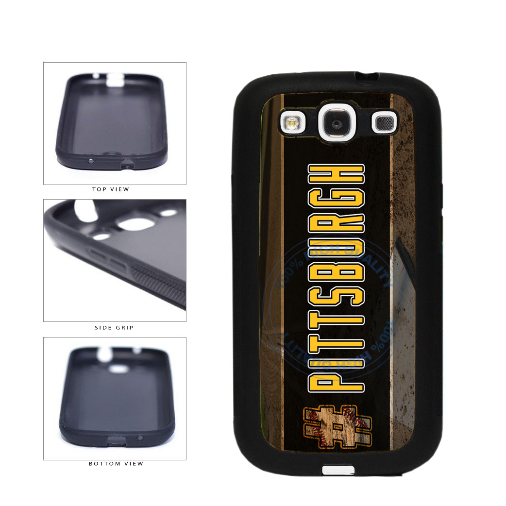 Hashtag Pittsburgh #Pittsburgh Baseball Team  TPU Rubber SILICONE Phone Case Back Cover For Samsung Galaxy S3 I9300 includes BleuReign(TM) Cloth and Warranty Label
