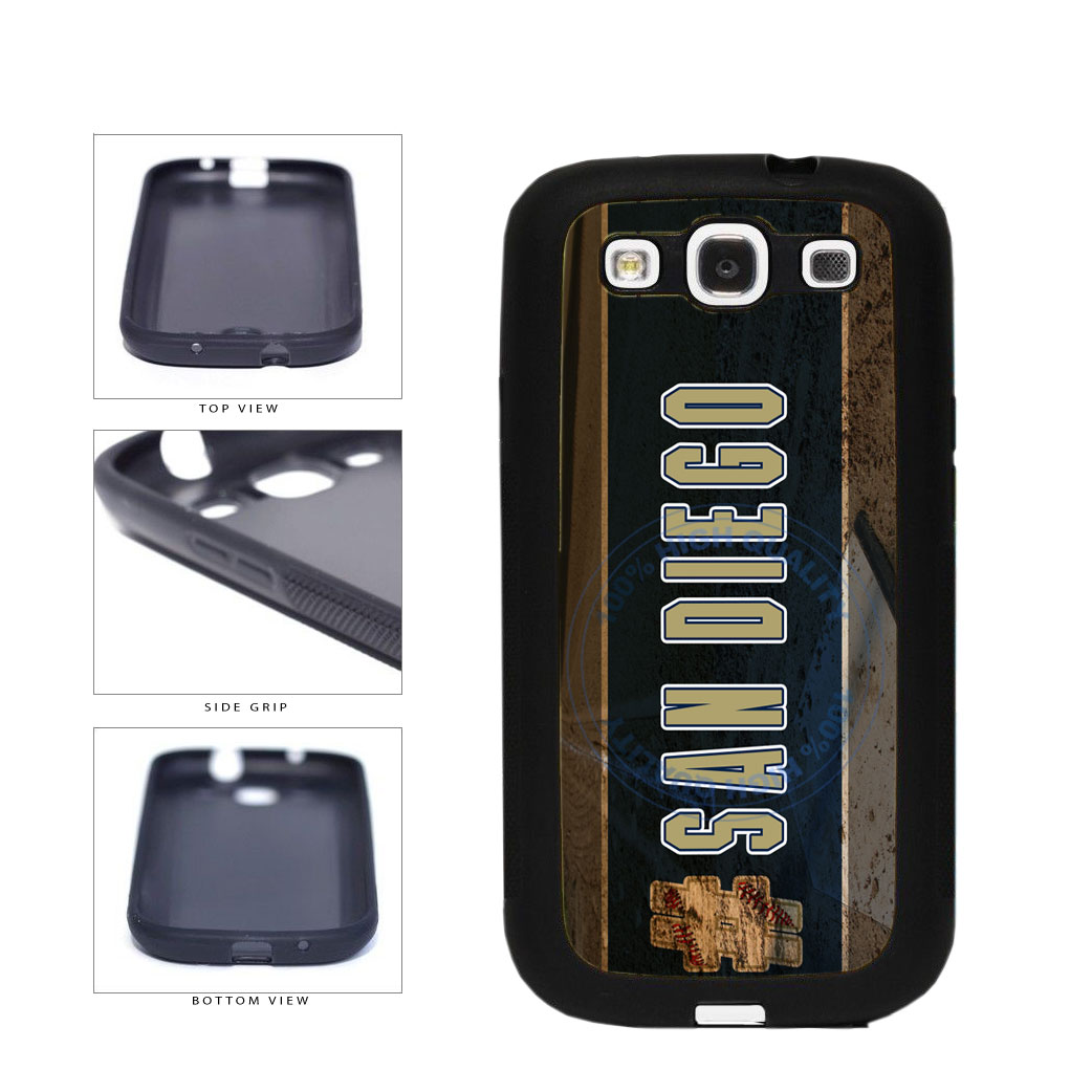 Hashtag San Diego #SanDiego Baseball Team  TPU Rubber SILICONE Phone Case Back Cover For Samsung Galaxy S3 I9300 includes BleuReign(TM) Cloth and Warranty Label