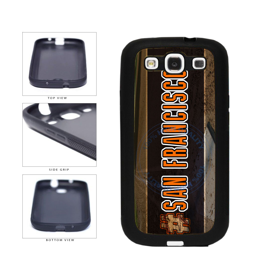 Hashtag San Francisco #SanFrancisco Baseball Team  TPU Rubber SILICONE Phone Case Back Cover For Samsung Galaxy S3 I9300 includes BleuReign(TM) Cloth and Warranty Label