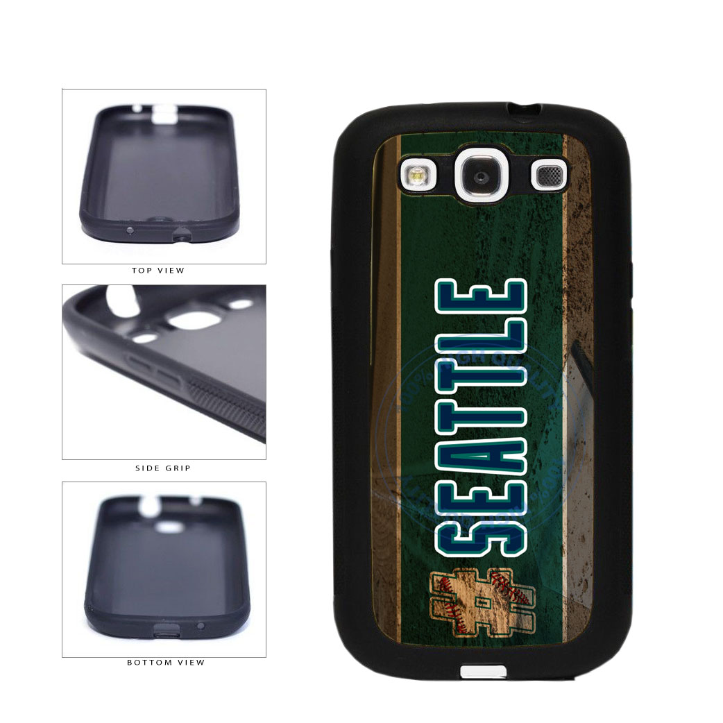 Hashtag Seattle #Seattle Baseball Team  TPU Rubber SILICONE Phone Case Back Cover For Samsung Galaxy S3 I9300 includes BleuReign(TM) Cloth and Warranty Label