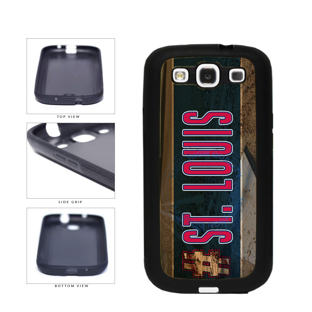 Hashtag St Louis #StLouis Baseball Team TPU Rubber SILICONE Phone Case Back Cover For Samsung Galaxy S3 I9300 includes BleuReign(TM) Cloth and Warranty Label