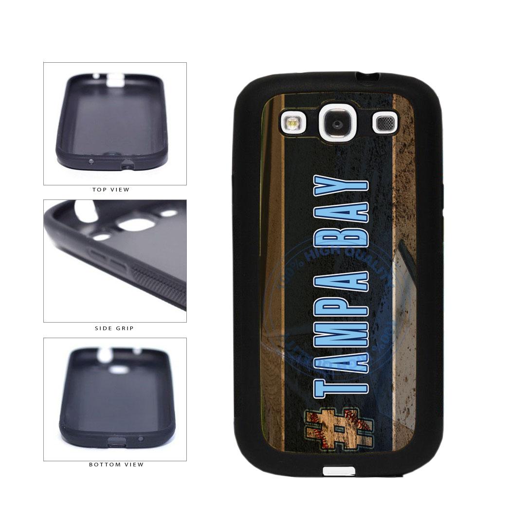 Hashtag Tampa Bay #TampaBay Baseball Team  TPU Rubber SILICONE Phone Case Back Cover For Samsung Galaxy S3 I9300 includes BleuReign(TM) Cloth and Warranty Label