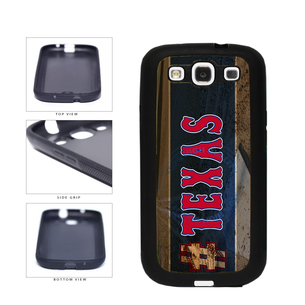 Hashtag Texas #Texas Baseball Team  TPU Rubber SILICONE Phone Case Back Cover For Samsung Galaxy S3 I9300 includes BleuReign(TM) Cloth and Warranty Label