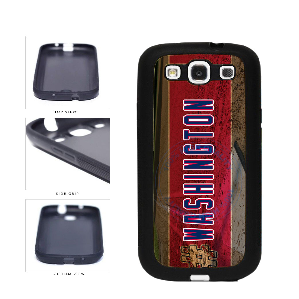Hashtag Washington #Washington Baseball Team  TPU Rubber SILICONE Phone Case Back Cover For Samsung Galaxy S3 I9300 includes BleuReign(TM) Cloth and Warranty Label