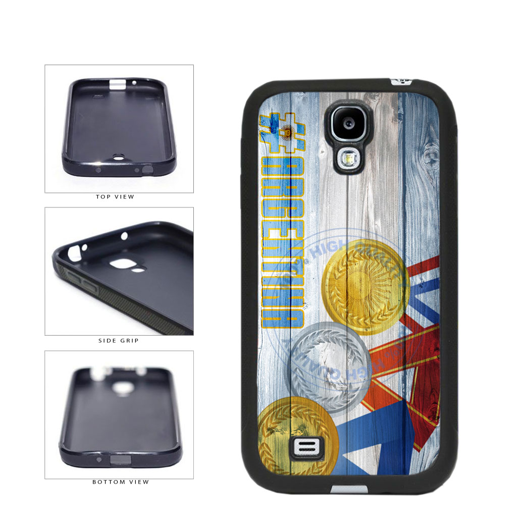 Sport Games Hashtag Team Argentina #Argentina TPU Rubber SILICONE Phone Case Back Cover For Samsung Galaxy S4 I9500 includes BleuReign(TM) Cloth and Warranty Label