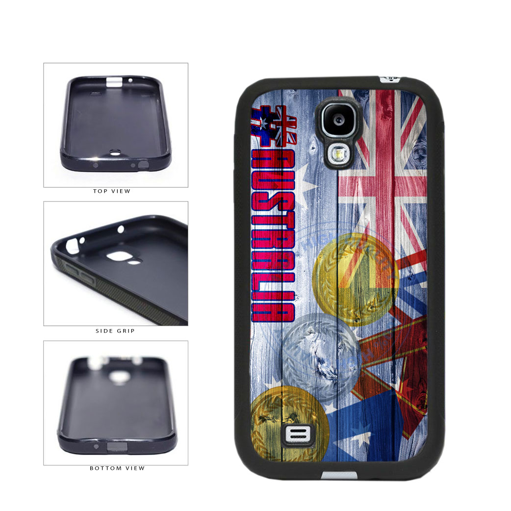 Sport Games Hashtag Team Australia #Australia TPU Rubber SILICONE Phone Case Back Cover For Samsung Galaxy S4 I9500 includes BleuReign(TM) Cloth and Warranty Label