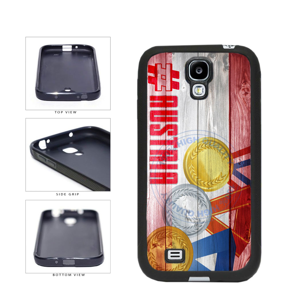 Sport Games Hashtag Team Austria #Austria TPU Rubber SILICONE Phone Case Back Cover For Samsung Galaxy S4 I9500 includes BleuReign(TM) Cloth and Warranty Label