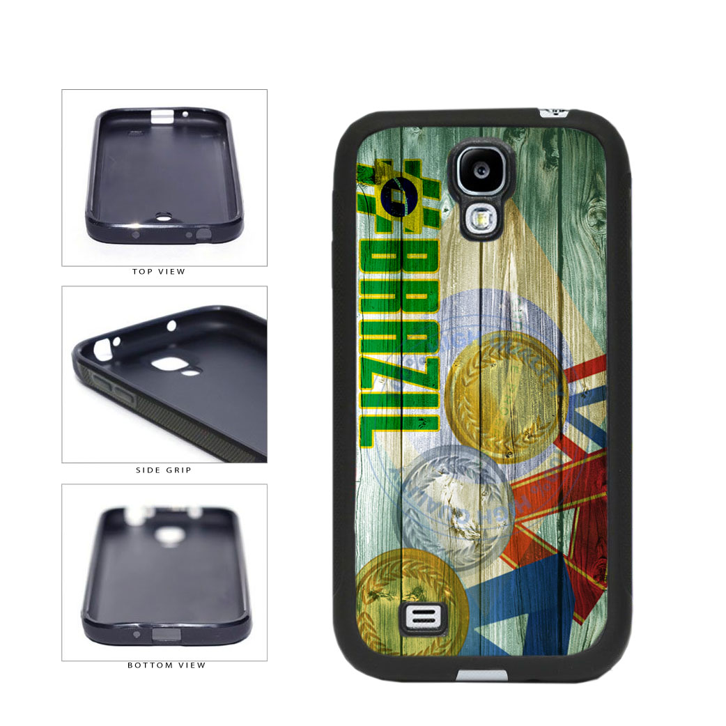 Sport Games Hashtag Team Brazil #Brazil TPU Rubber SILICONE Phone Case Back Cover For Samsung Galaxy S4 I9500 includes BleuReign(TM) Cloth and Warranty Label