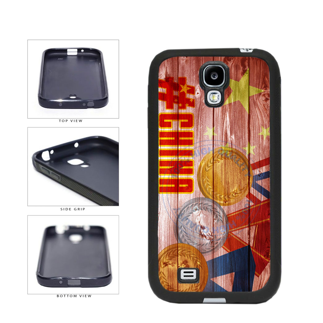 Sport Games Hashtag Team China #China TPU Rubber SILICONE Phone Case Back Cover For Samsung Galaxy S4 I9500 includes BleuReign(TM) Cloth and Warranty Label
